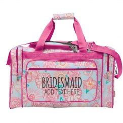 Custom Bridesmaid Bag Gift