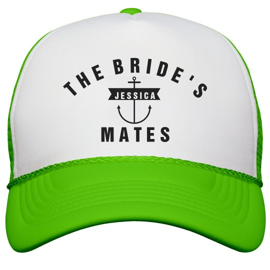 967d0cc7987 The Bride s Mates Anchor Neon Snapback Trucker Hat