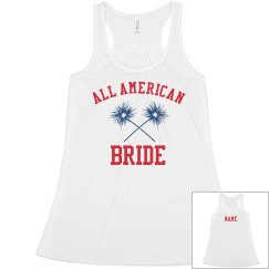 Custom All American Bride Tank
