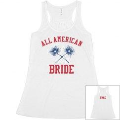 Custom All American Bride Tank