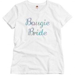 Bougie Bride Silver Glitter
