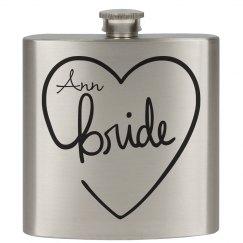Heart Flasks Bride