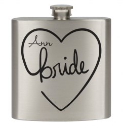 Heart Flasks Bride