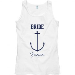 Navy Blue Bride Anchor