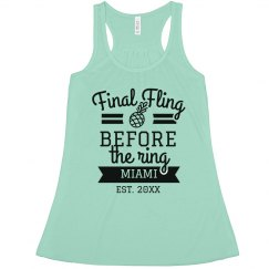 Cute Custom Miami Bachelorette Tank