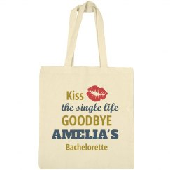 Kiss the Single Life Bachelorette Tote