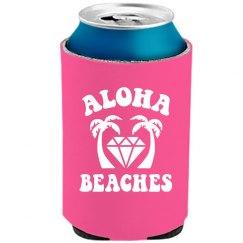 Aloha Beaches Neon Koozie Bridal