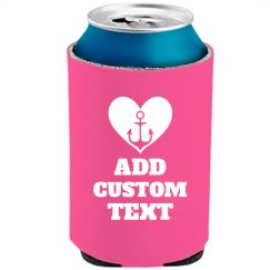 Custom Text Anchor Bridal Koozie
