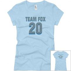 Team fox bling on back