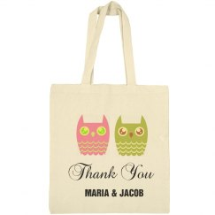 Owls Tote Thank You Bag