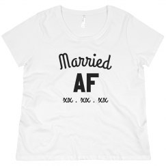 Custom Plus Tee Married AF