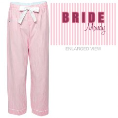 Pink Stripe Bride
