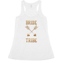 Custom Bride Tribe Arrow Tank Top