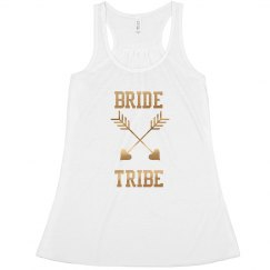 Custom Bride Tribe Arrow Tank Top