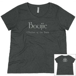 Boujie Mother of the Bride Back Logo Pink Plus Size Tee