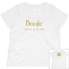 Boujie Mother of the Bride Back Logo Gold Plus Size