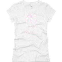 Boujie Bride Logo Pearlized Pink T Shirt