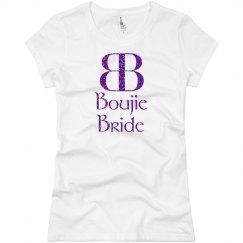 Boujie Bride Logo Purple Glitter T Shirt