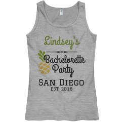 Pineapple bachelorette tank top