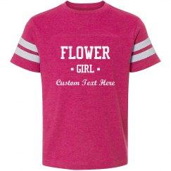 Custom Flower Girl Text Tee