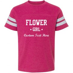 Custom Flower Girl Text Tee