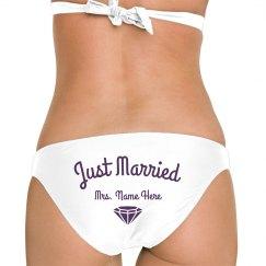 Personalized Just Married Swimwear