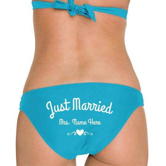 d3ff4ef8f5 Just Married Your Name Bikini Bottom Swimsuit