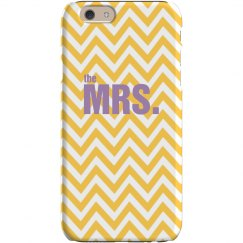Mrs. Chevron iPhone Case