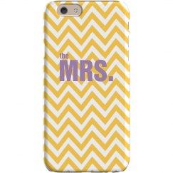 Mrs. Chevron iPhone Case