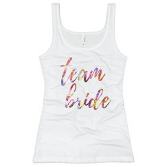 Floral Team Bride Tank Top