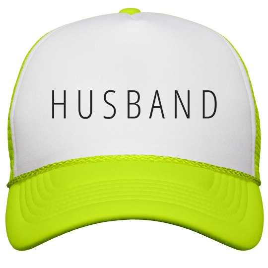 Husband Matching Couples Gift Neon Snapback Trucker Hat 2cbaebe2c284