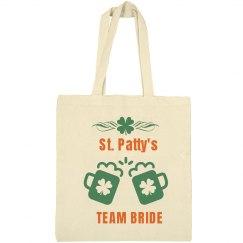 St Patty's Team Bride Tote
