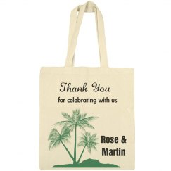Beach favor tote bag