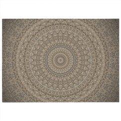Mandala Print Dobby Rug