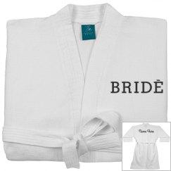 Bride Wedding Custom Spa Robe