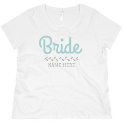 Custom Plus Size Bride Tee