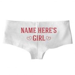 Custom Name Valentine's Girl
