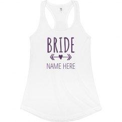 Bride To Be Arrow Heart