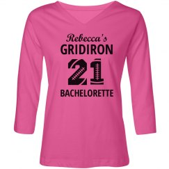 Gridiron Bachelorette Football Shirt
