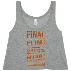 Final Fling Metallic Bridesmaid