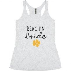 Beachin' Bride Bachelorette tank tops