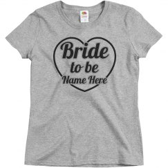 Heart Shaped Bride To Be