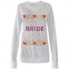 Bride Ugly Xmas Hooded Te