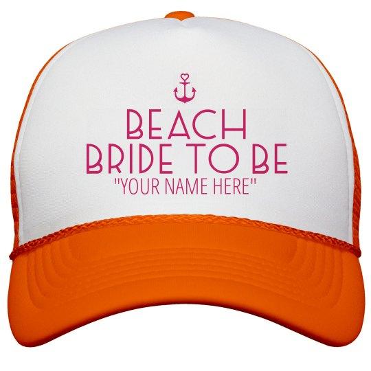 9775db42baadb Custom Nautical Beach Bride Gift Neon Snapback Trucker Hat