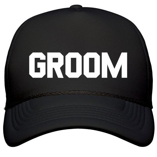Simple Trendy Groom Hat Film and Foil Solid Color Snapback Trucker Hat 68aeee308017