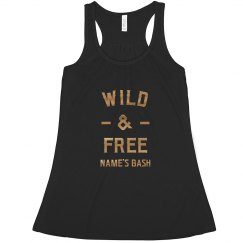 Wild & Free Gold Metallic Bachelorette