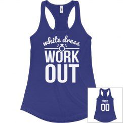 Custom Racerback White Dress Workout