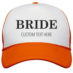 Custom Bride & Groom Matching Neon Trucker Hats