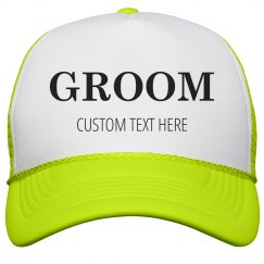 Custom Matching Neon Trucker Hats For Bride & Groom