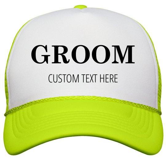 Custom Matching Neon Trucker Hats For Bride   Groom Neon Snapback Trucker  Hat 96599d1a832